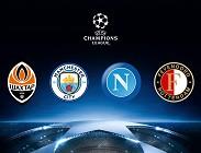 Streaming Champions League Shakhtar Donetsk Napoli