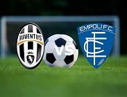 Juventus Empoli streaming. Dove vedere su siti web, link live gratis diretta