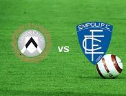 Udinese Empoli streaming live gratis siti web, link. Dove vedere