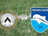 Udinese Pescara streaming gratis live link, siti web. Dove vedere