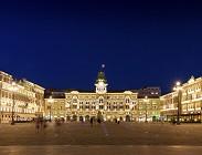 Drone, Trieste, matrimonio, proposta, Piazza Unità dItalia