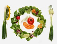 Vegani piatti vegetali grassi